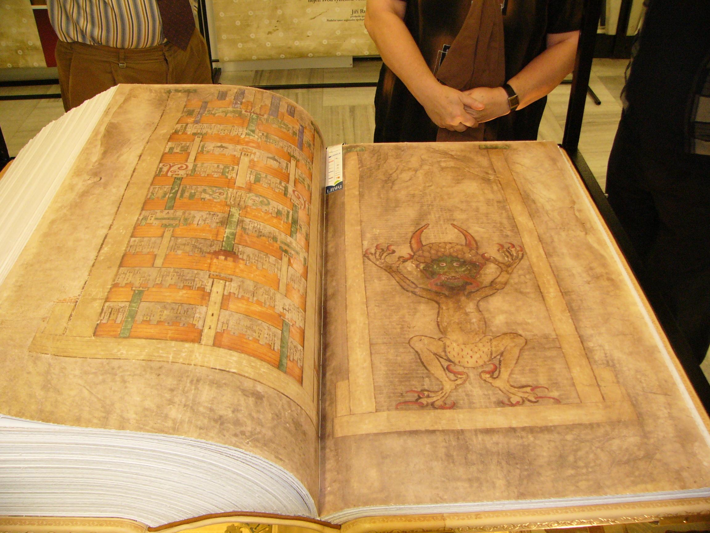 """Das """"Codex Gigas"""" mit dem Bild des Teufels"""