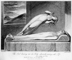 """The soul leaving the body"", Illustration von Luigi Schiavonetti (†1810)"