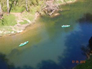 Kanufahrer auf der Donau